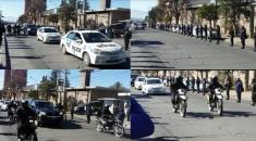 REALIZARON UN SENTIDO HOMENAJE EN PLENA CALLE AL EFECTIVO POLICIAL FALLECIDO POR COVID-19