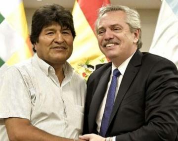 Alberto Fernández se reunió con los hijos de Evo Morales apenas llegaron a Argentina