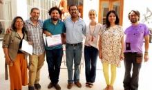 Escultores recibieron certificados de reconocimiento