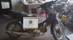 Compró una moto con motor y cuadro alterado