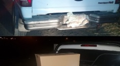 Secuestran camioneta que era utilizada para trasladar mercadería robada