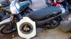 Recuperan moto robada en San Pedro